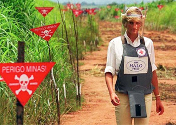 Princess Diana on minefield, HALO Trust