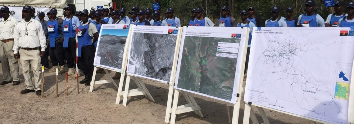 HALO Angola deminers on Anniversary of Battle of Cuito Cuanavale