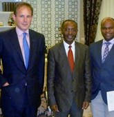 Anthony Bird, James Cowan, Bornito-de-Sousa Jose Agostinho, Gerhard Zank Delegation visit Angola, HALO Trust