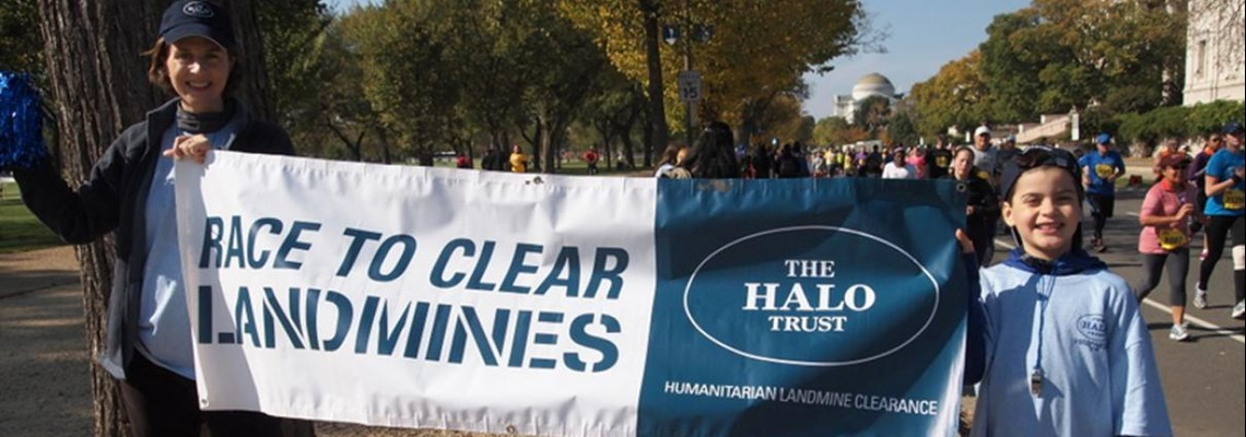 US fundraising race to clear landmines, HALO Trust