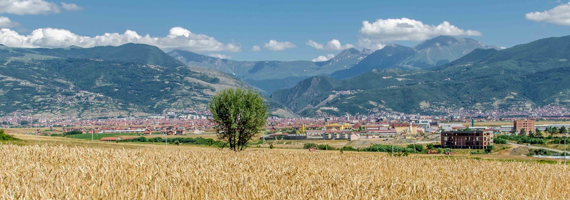 A landscape shot of Kosovo (? *check to make sure this is not Georgia), HALO Trust.