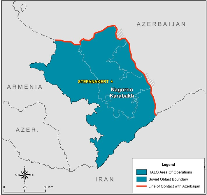 Map of Nagorno Karabakh