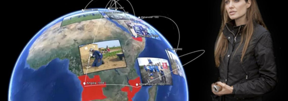Explore a minefield on Google Earth, presentation by Angelina Jolie, HALO Trust