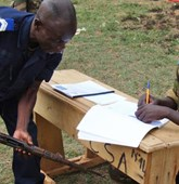 Weapons cutting training in the Central African Republic, HALO Trust