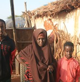 Beneficiaries Xiiz and her two sons at Gocondale village in Somaliland, HALO Trust