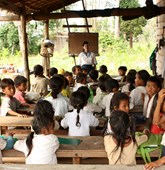Children in class at a school in Cambodia, HALO Trust