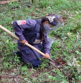 Laos female deminer, Labokang, HALO Trust