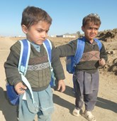 Gulan refugee camp in Afghanistan, school children, HALO Trust