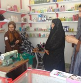 Samira Afghanistan sewing shop, HALO Trust