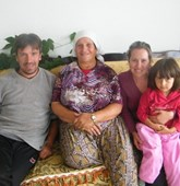A family of beneficiaries from Kosovo, HALO Trust.