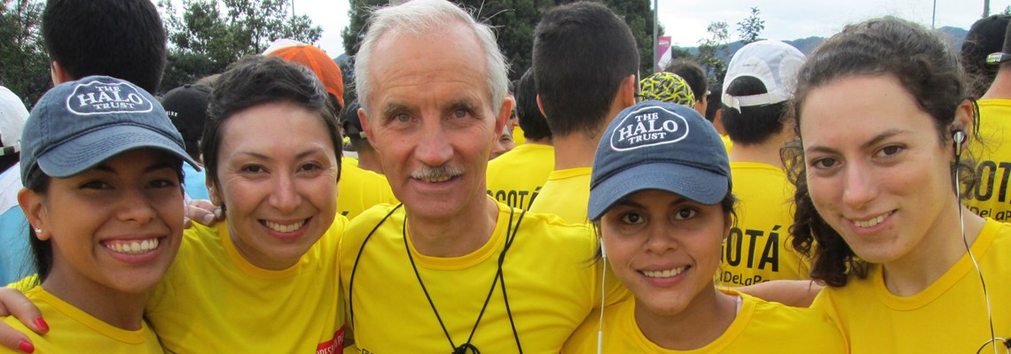 HALO team at Colombia marathon.