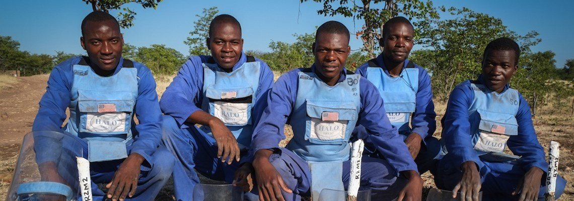 Deminers in Zimbabwe, HALO Trust.