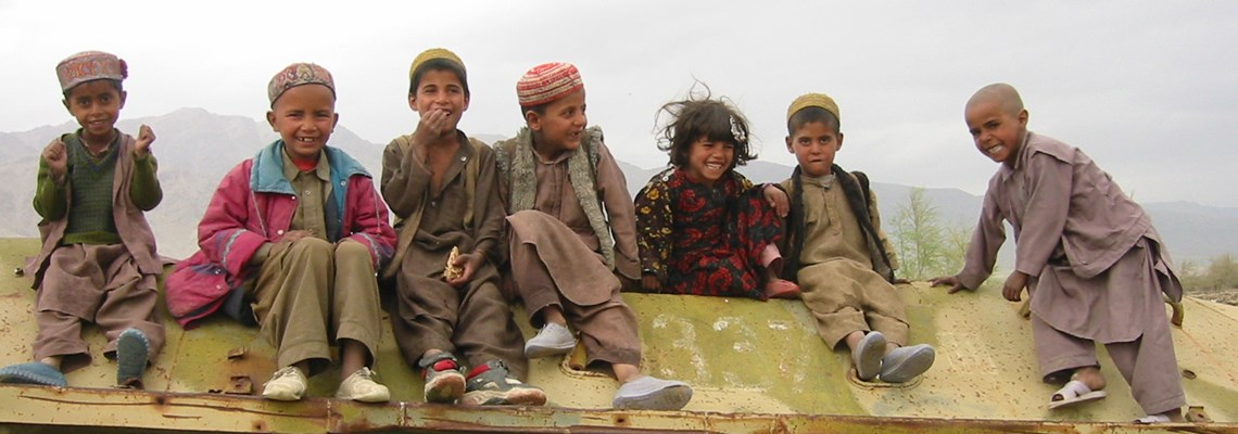 Kids on BTR in Afghanistan, HALO Trust