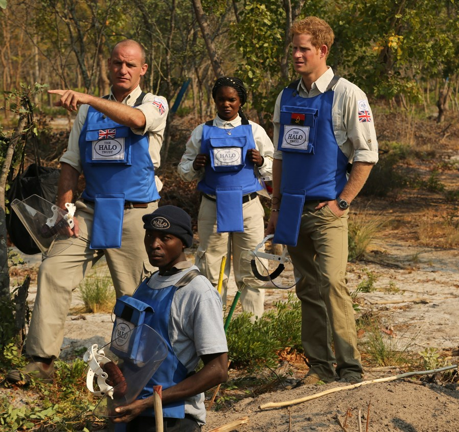 Prince Harry visits The HALO Trust in Angola