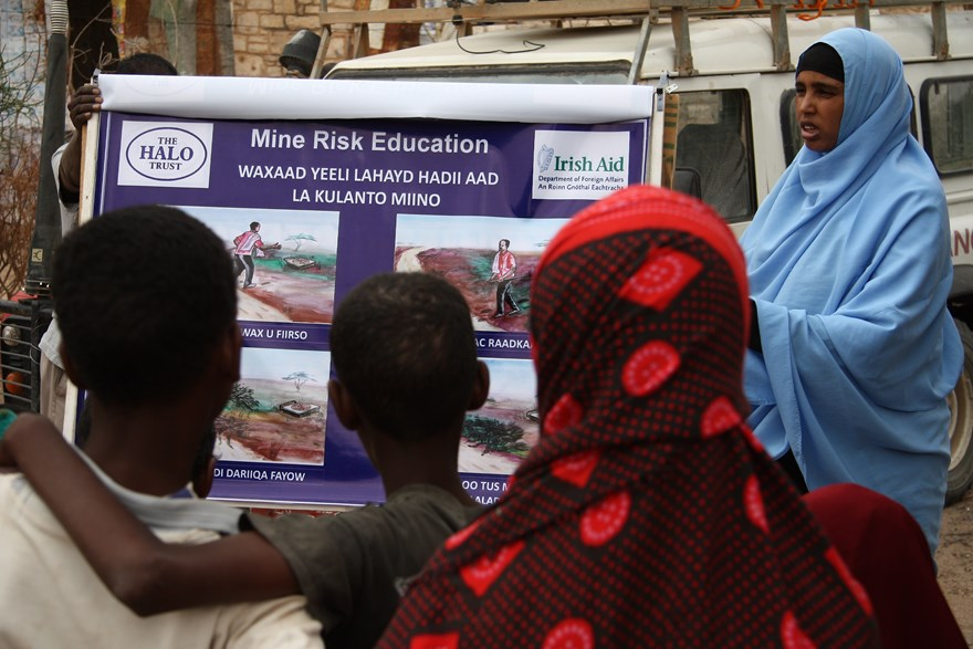 Mine risk education, HALO Trust.