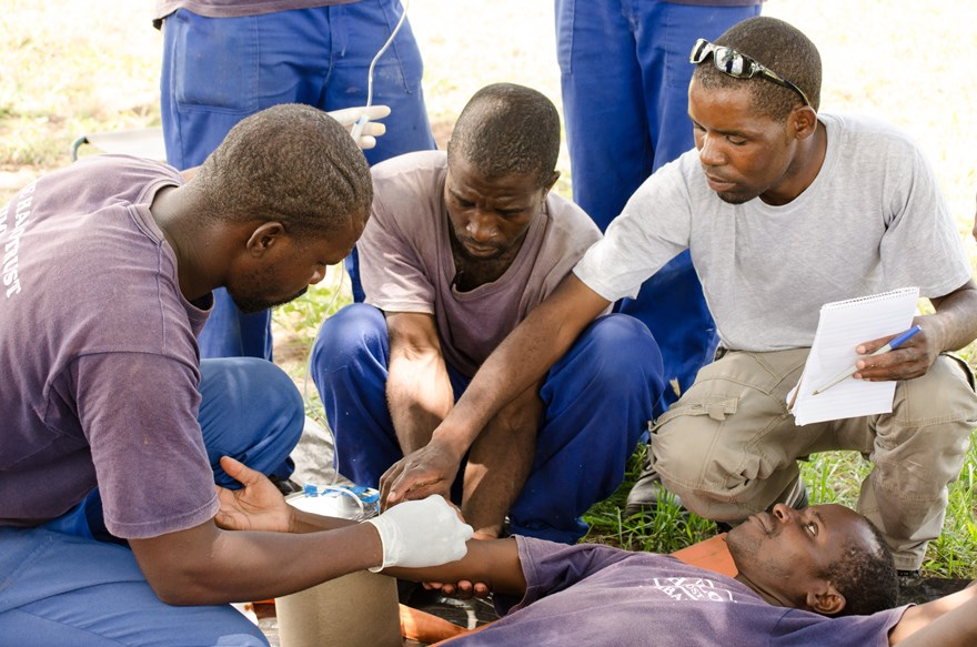 Medical training in Zimbabwe, HALO Trust.