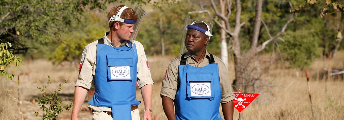 Prince Harry visits Mozambique