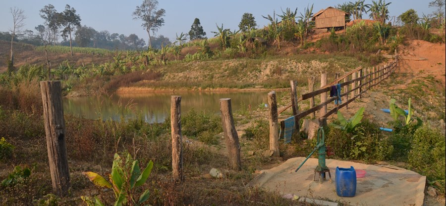 Pond in Phnum Rai on land cleared by HALO Trust