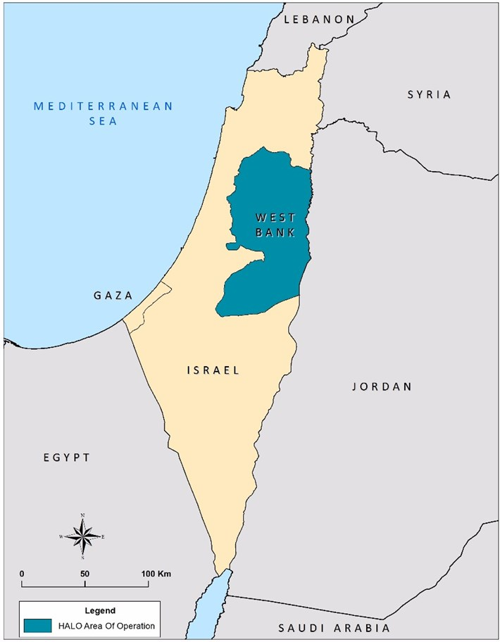 Map of West Bank