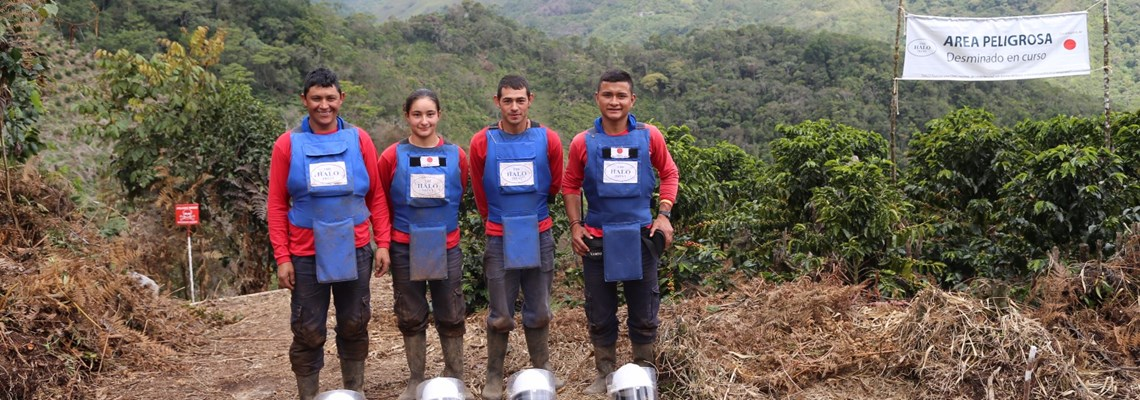 Deminers in Colombia, HALO Trust.