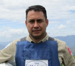 Fernando Bejarano, Location Manager at the HALO Trust Colombia