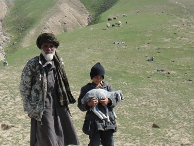 Abdul Hakim and his grandson
