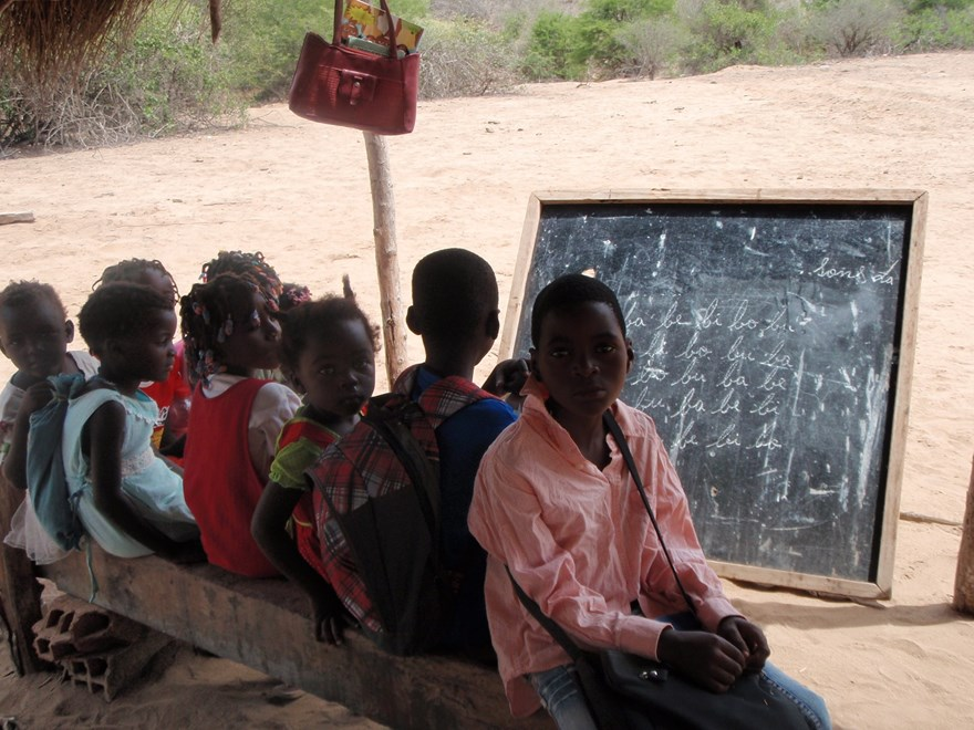 Beneficiaries at Kenenguerere School, Benguela Province, Angola