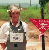 Princess Diana in HALO Trust PPE