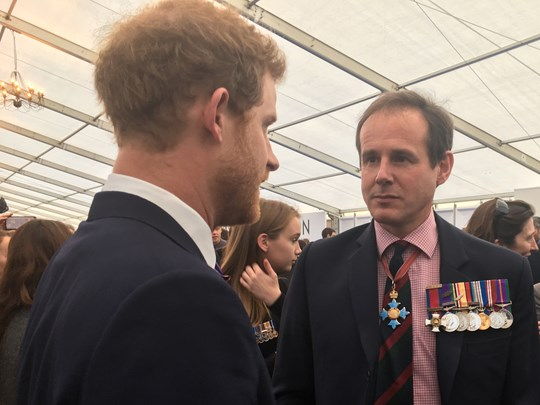 CEO James Cowan meeting Prince Harry