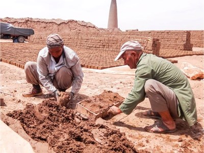 Brick makers in Herat, Afghanistan