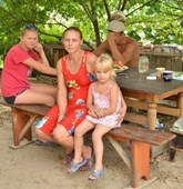 Oksana and her family, Ukraine