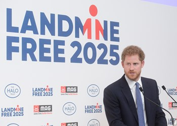 Prince Harry at Kensington Palace, Landmine Free 2025