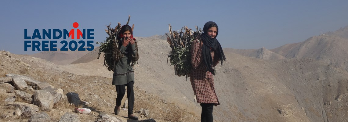 Girls carrying wood, Afghanistan, Landmine Free 2025