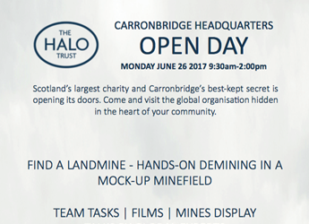 open day advert, HALO Trust