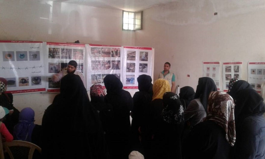 Women at a risk education session, Syria.