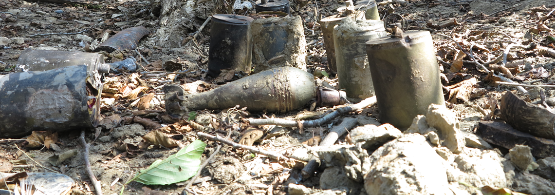 Unexploded Ordnance from Abkhazia explosion