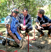 US Congressman Valdao receives a mine clearance demonstration in Nagorno Karabakh.