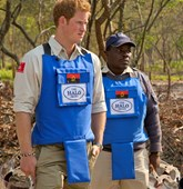 HRH Prince Harry visits demining operations with The HALO Trust in Angola.