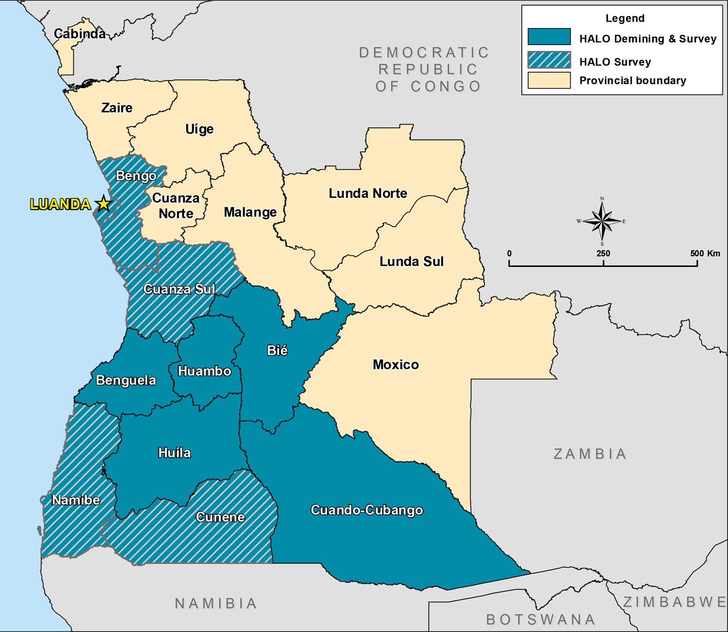 Our work in Angola what we do and where The HALO Trust