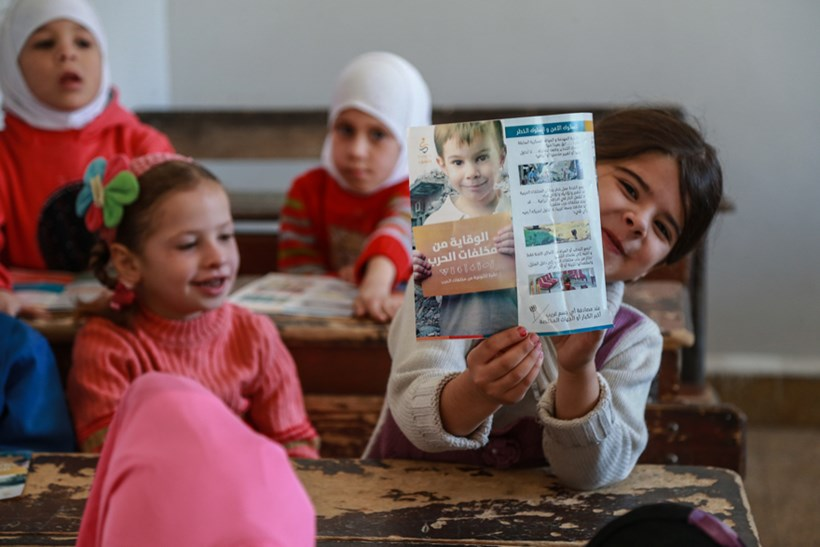 Syria is littered with explosives. Risk education teaches children how to stay safe.