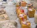 IED main charges packed into plastic containers