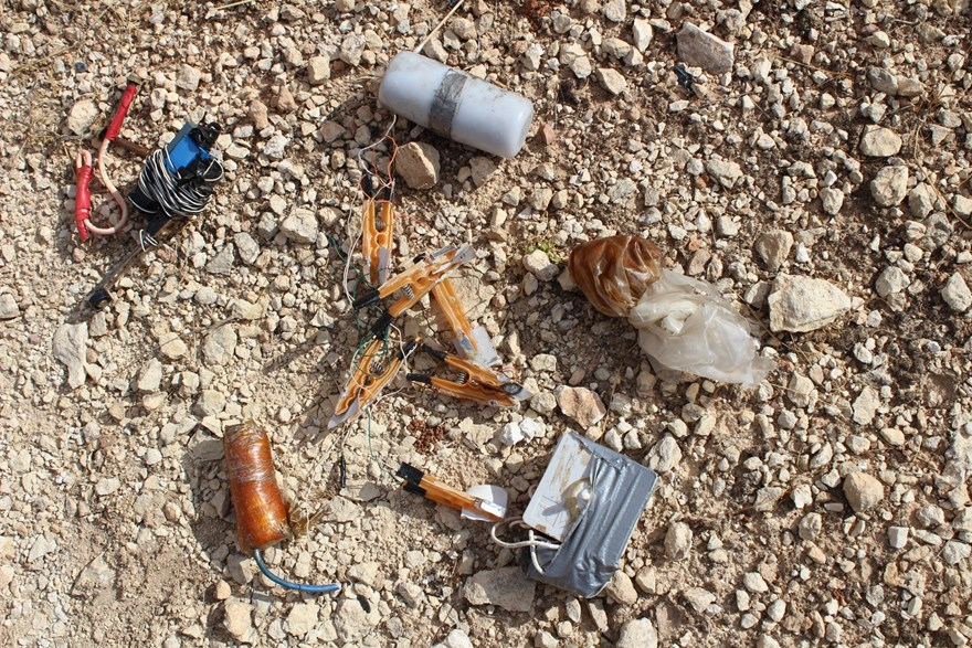 Electrical IED switches found in northern Syria.