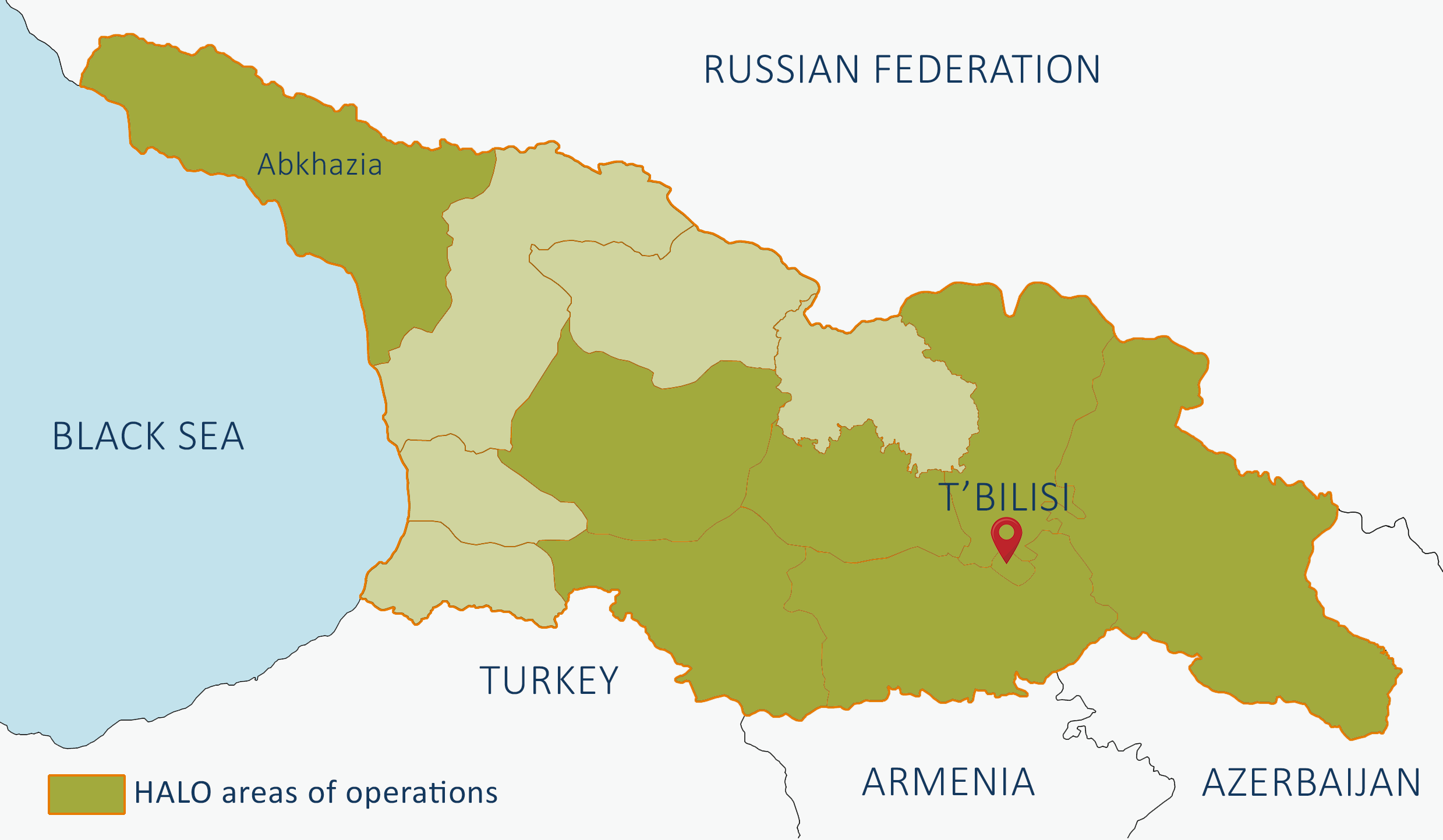 Our work in Georgia and Abkhazia | The HALO Trust Abkhazia Georgia Caucasus Map on