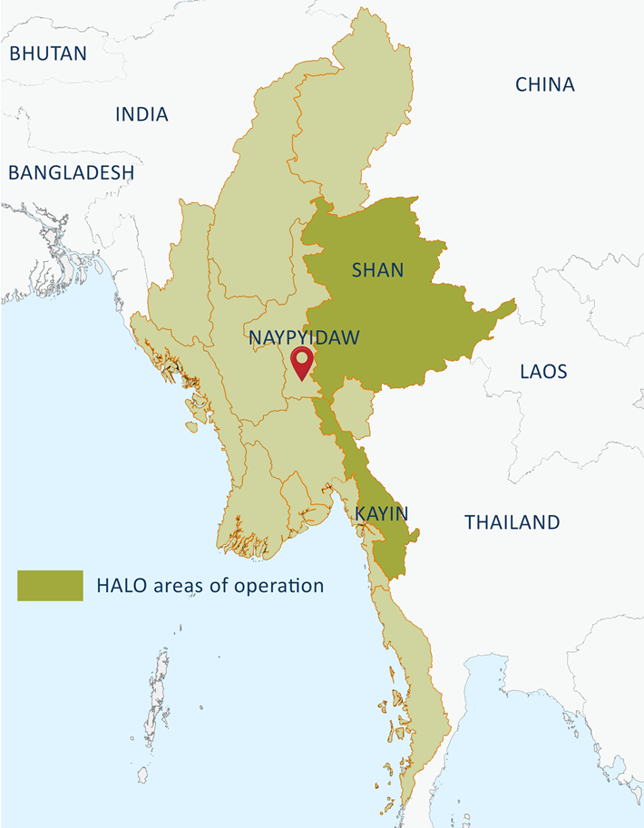 Our work in Myanmar, what we do and where | The HALO Trust