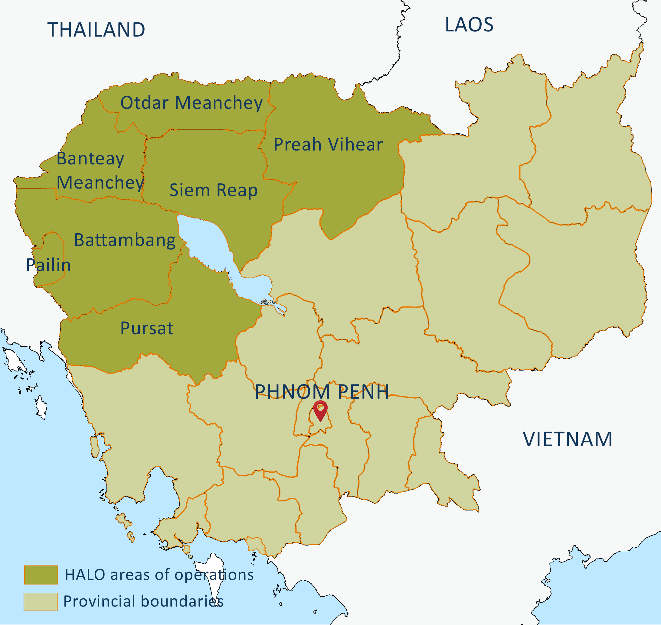 Cambodia: Our Work In Cambodia, What We Do And Where