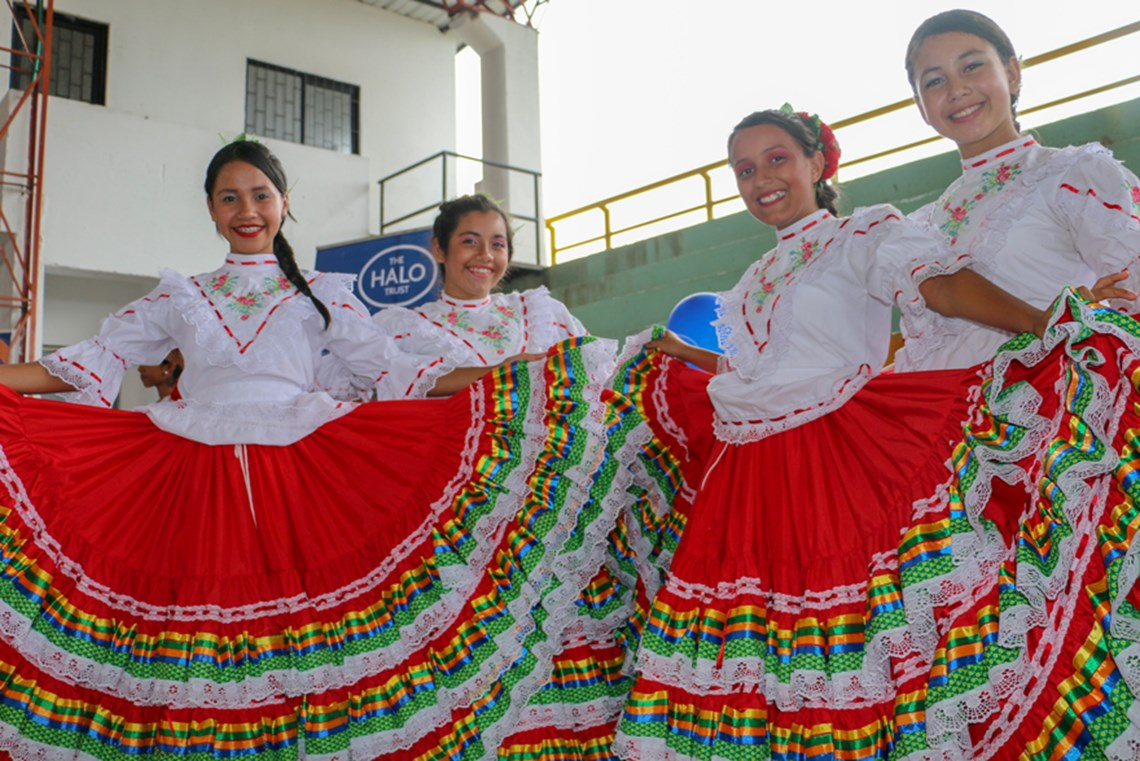 The dancers performed the Caña, San Juanero and Canta un Pijao, which are traditional dances from Tolima.