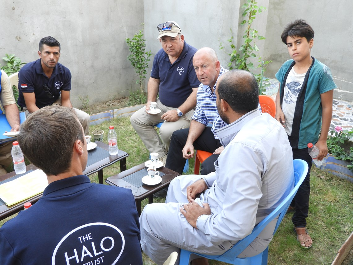 Ambassador Sawden meeting local people and HALO staff