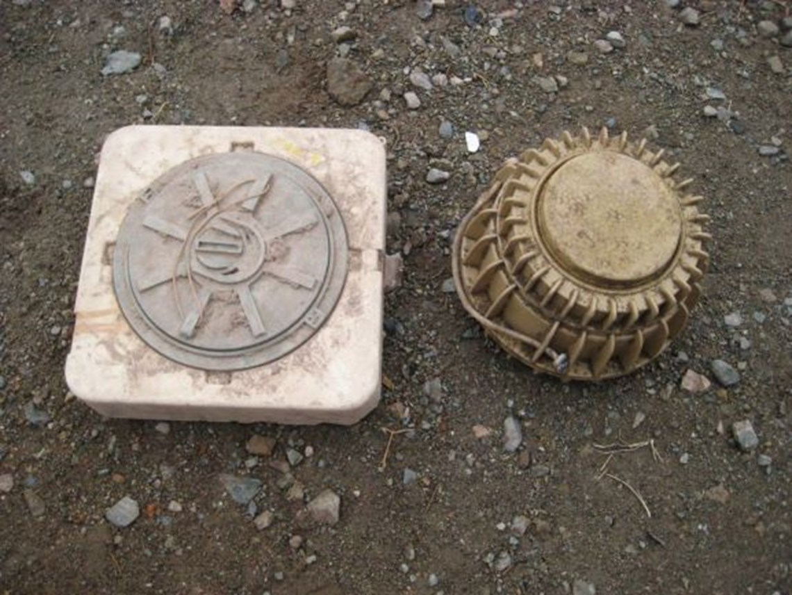 M19 & TC6 anti-vehicle mines - two of the most common found in Afghanistan