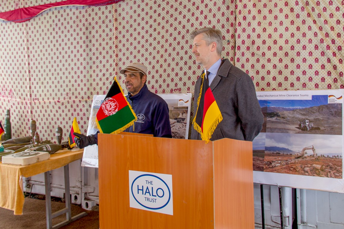 Mr. Peleikis speaks about the importance of HALO's work and pride at the support Germany has provided to HALO and the Afghan people.