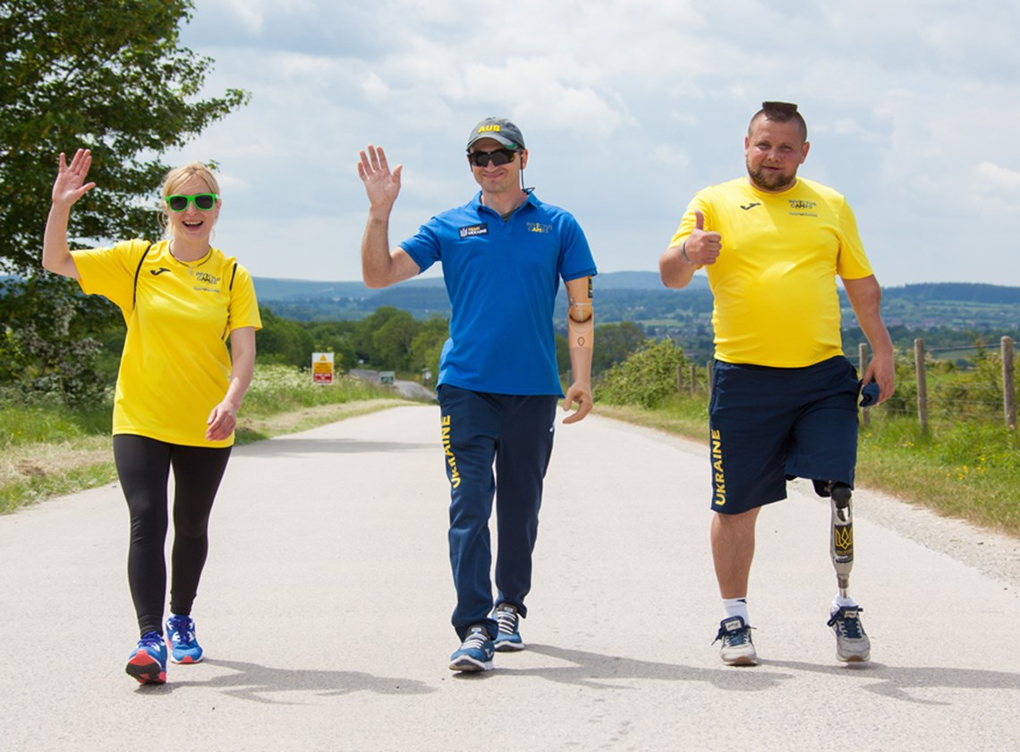Maiia, Oleksandr and Andrii, former Invictus Games competitors from Ukraine, hit their stride